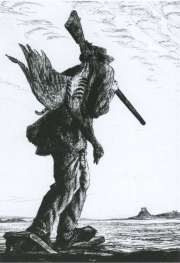 Etching taken from Confessions of a Coastal Gunner by BB